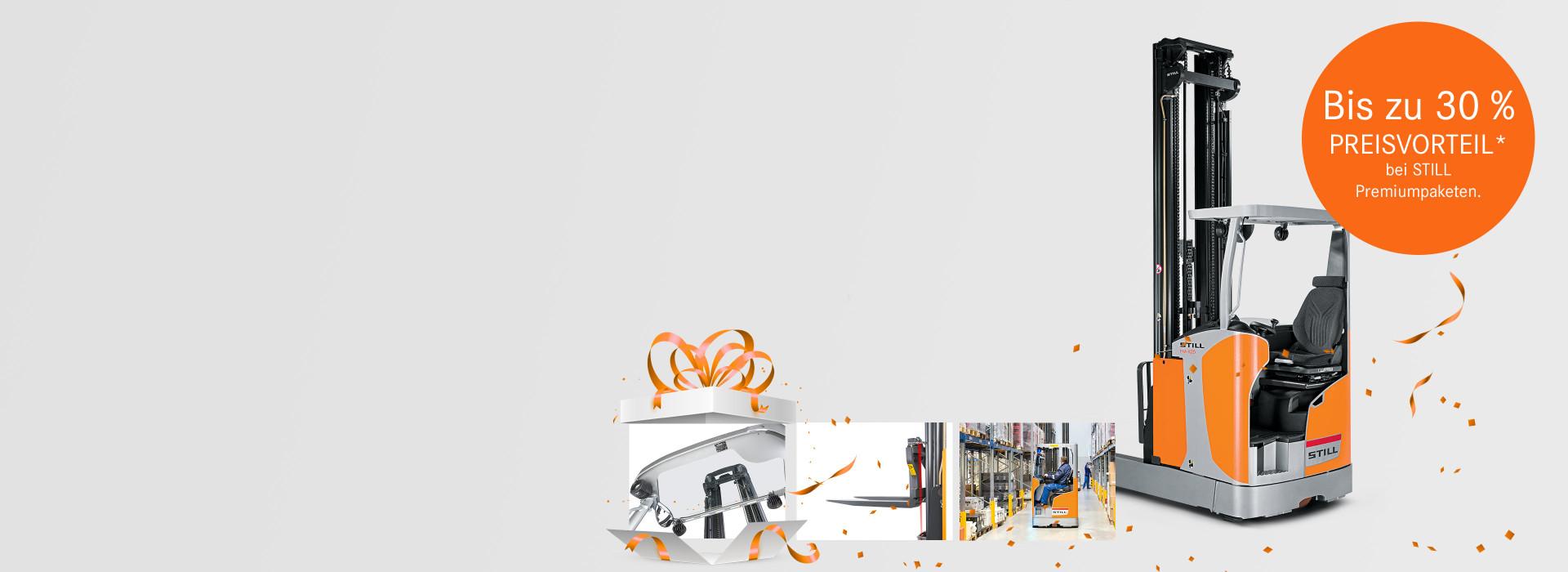 STILL Schubmaststapler mit attraktiven Premiumpaketen.