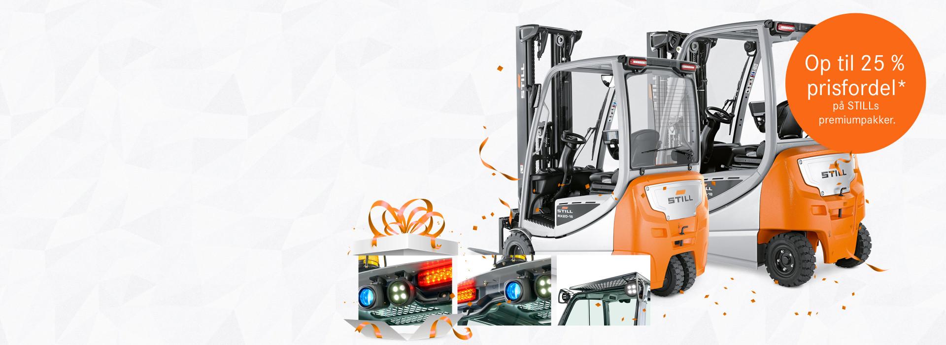 Sikkerhed til en attraktiv pris til din elektriske gaffeltruck