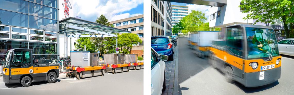 Routenzug mit Straßenzulassung
