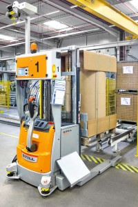 Automated transport from incoming goods to production