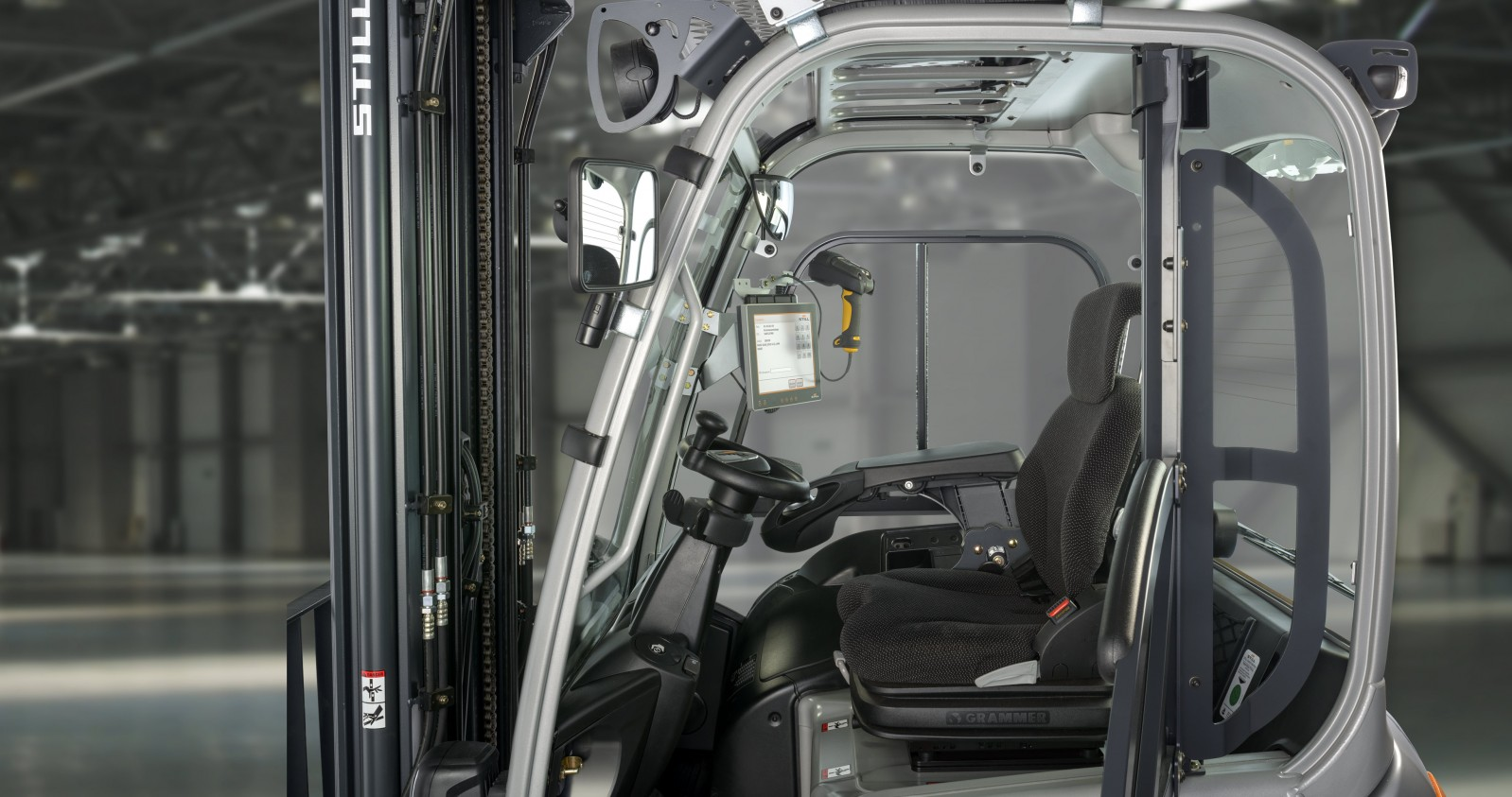 Système de pilotage des chariots et des transports