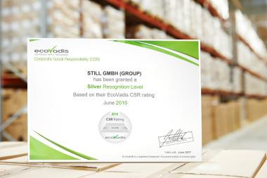 STILL erhält weltweit anerkanntes Nachhaltigkeitszertifikat von EcoVadis