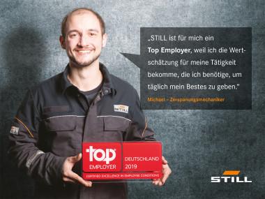 STILL als Top Employer Deutschland 2019 bestätigt