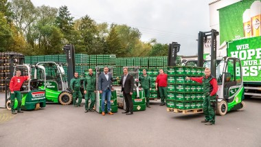Westerwald-Brauerei. Hachenburger is now only using electric forklift trucks