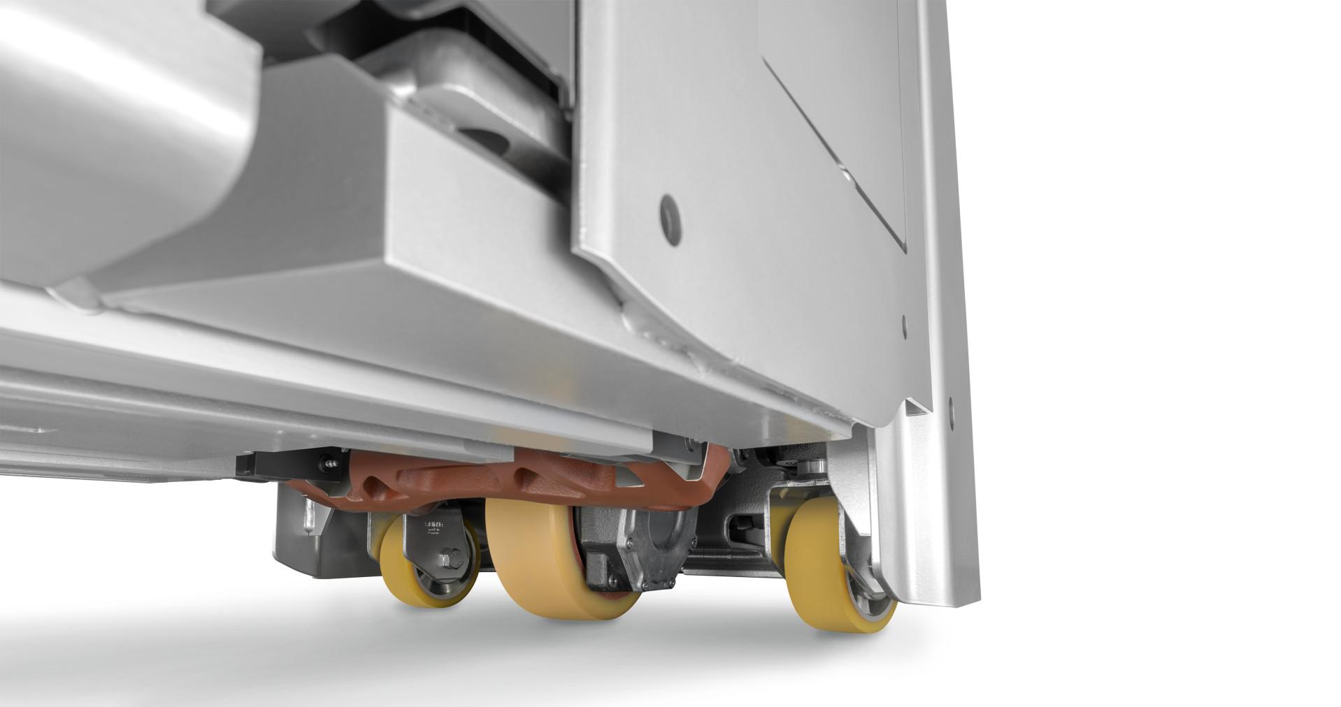 Porta-paletes com double deck e plataforma basculante de elevação do conduto EXD-SF STILL