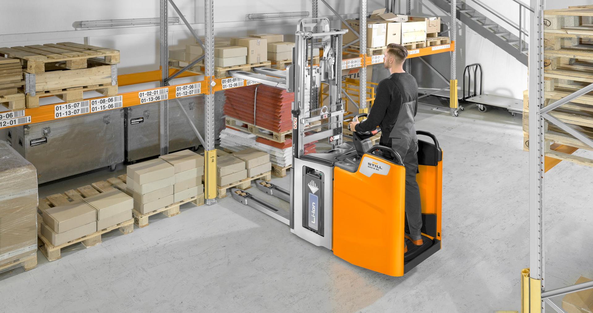 Empilhador de paletes de dois andares EXD-S 20 STILL