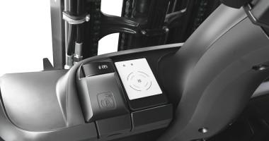 Chariot élévateur électrique RX 20 1,4 - 2,0 t - clé de contact/carte d'accès de frein de stationnement + contrôle d'accès avec FleetManager