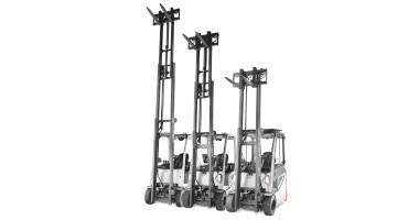 Chariot élévateur électrique RX 20 1,4 - 2,0 t - comparaison de hauteur de mât