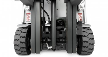 Chariot élévateur électrique RX 20 1,4 - 2,0 t - vision avant des détails du mât + roues