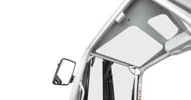 Chariot élévateur électrique RX 20 1,4 - 2,0 t - grande visibilité vers le haut grâce à la vitre/toit panoramique blindé(e) + rétroviseur latéral et panoramique